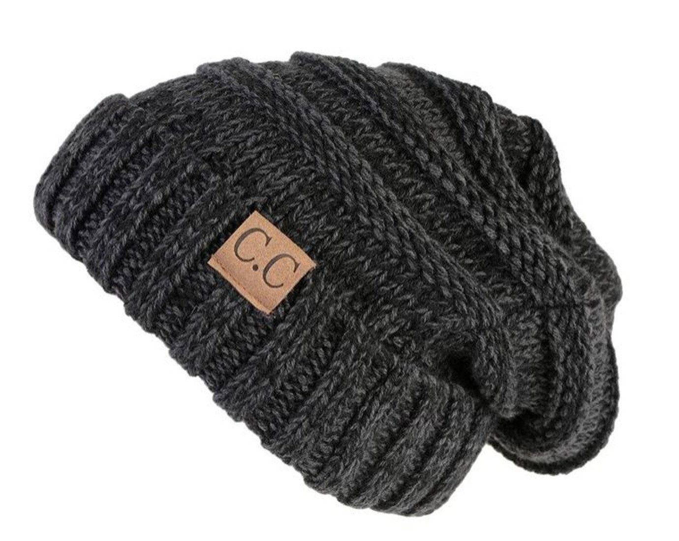 8314fdd86e4 Oversized Slouchy Beanie - An Onyx Black Tricolor Mix  A brand new knit cap  for you will love how it feels!