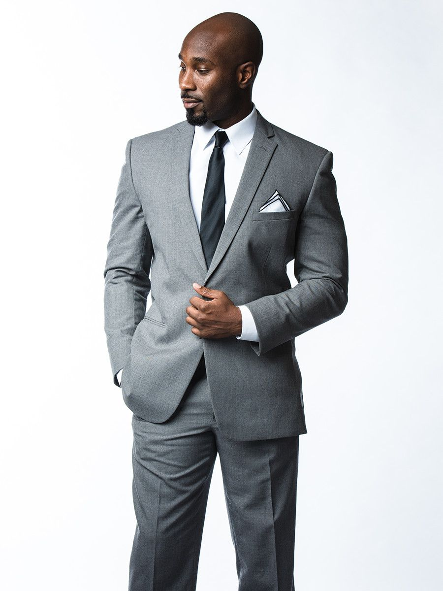 Grey three-piece suit rental. #grey #suit menguin.com/brooklyn ...