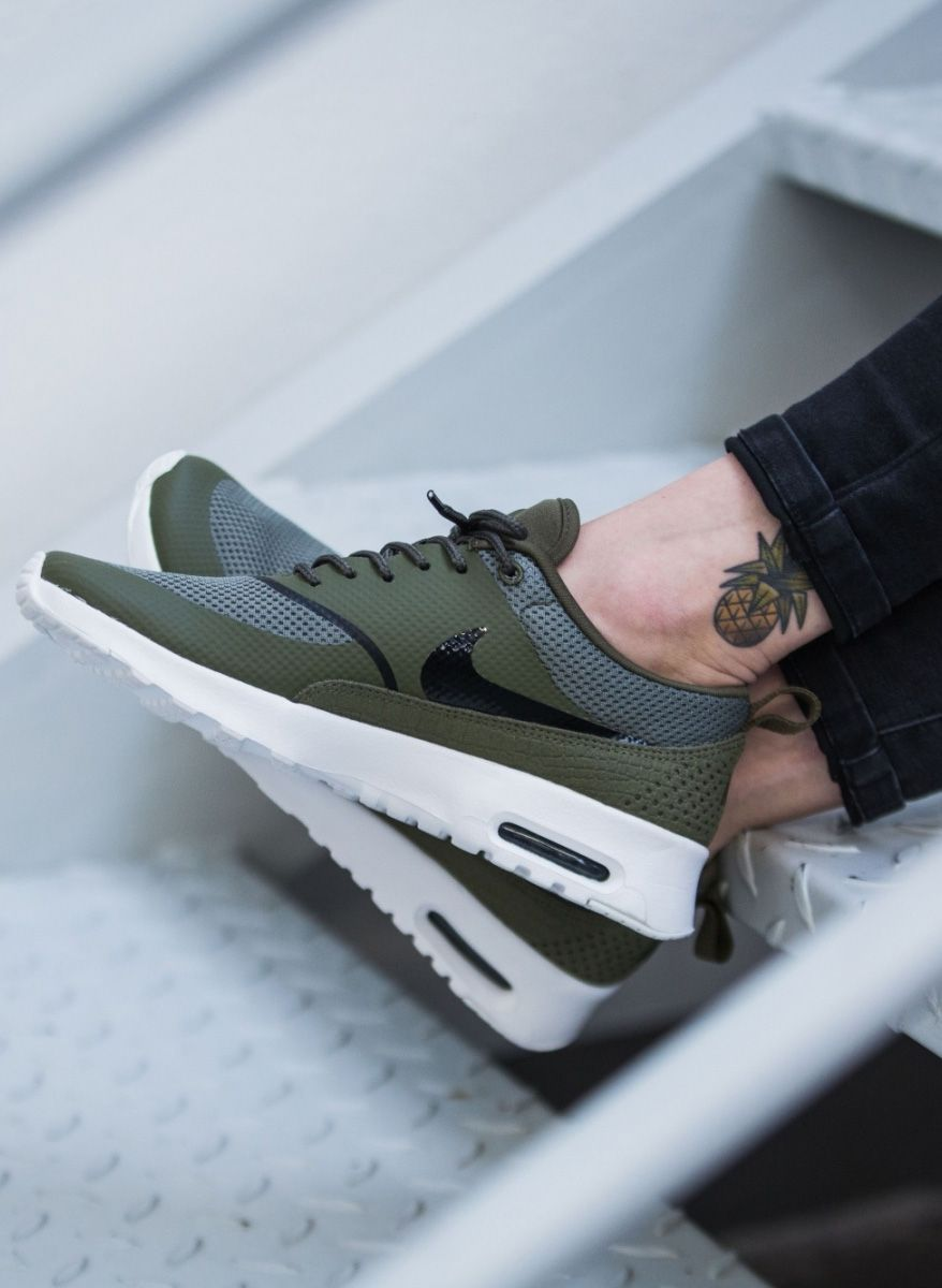 nike air max thea olive sneakers threads pinterest. Black Bedroom Furniture Sets. Home Design Ideas