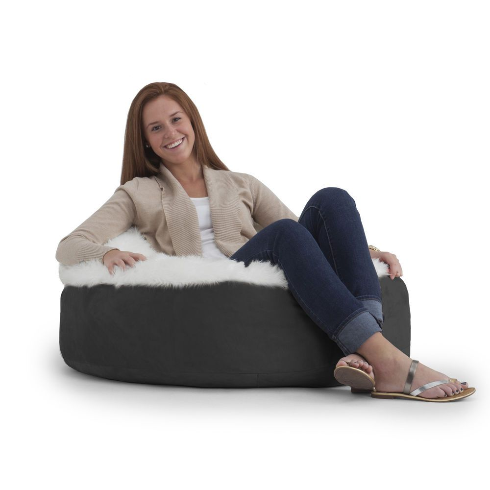 Bean bag chair pillow ottoman pillow doughnut adult big large sack