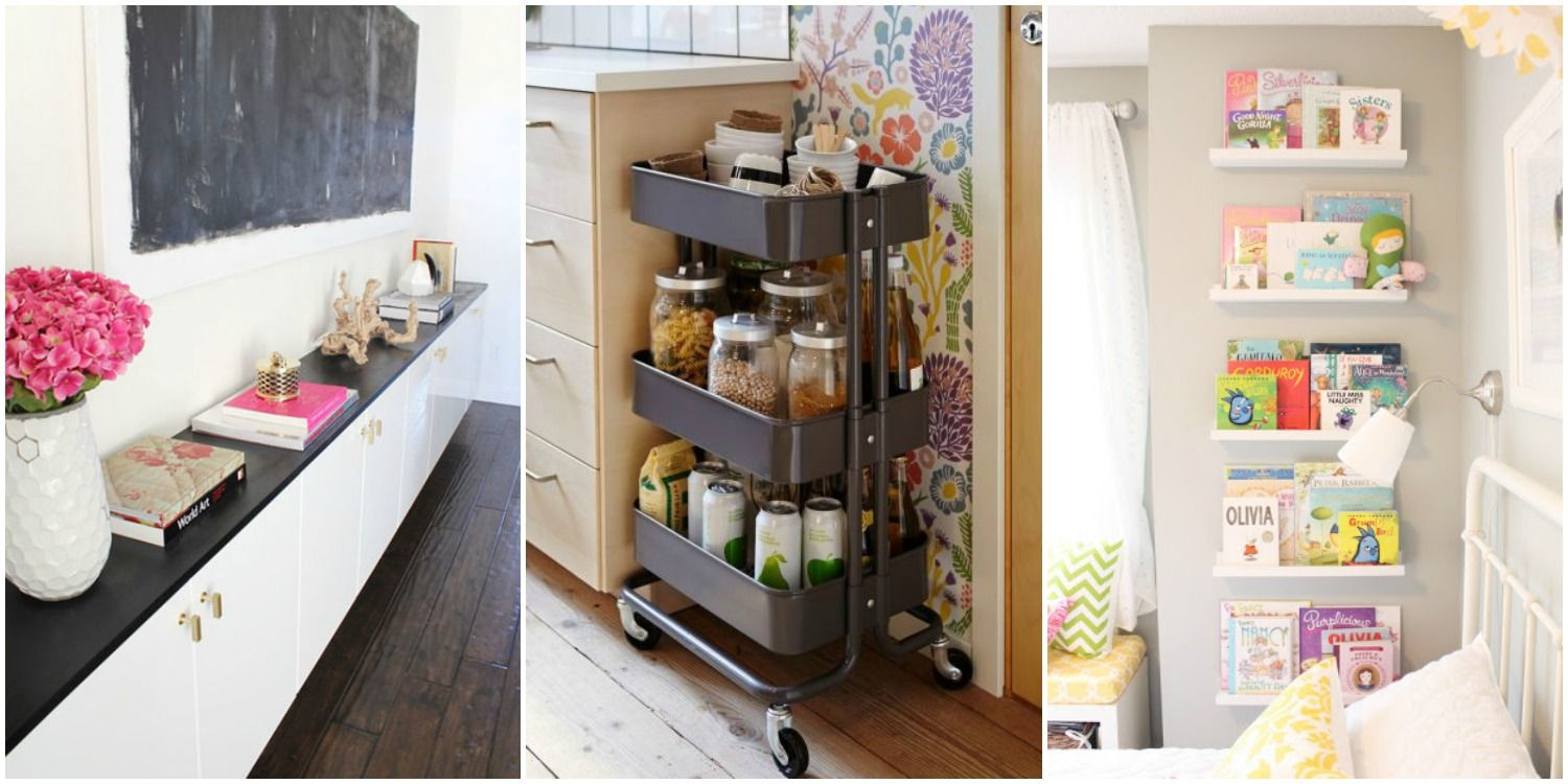 15 Ikea Storage Hacks Solutions With Products See The Bookshelves Turned Into