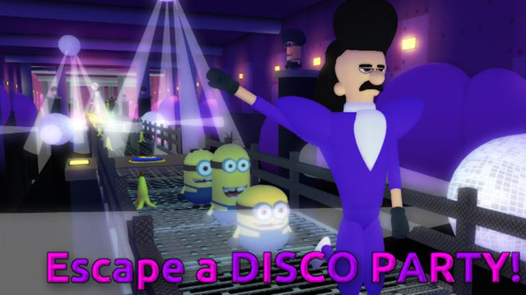 Obby Roblox Decal Escape The Minions Adventure Obby Roblox Minions 30 Fun Disco Party