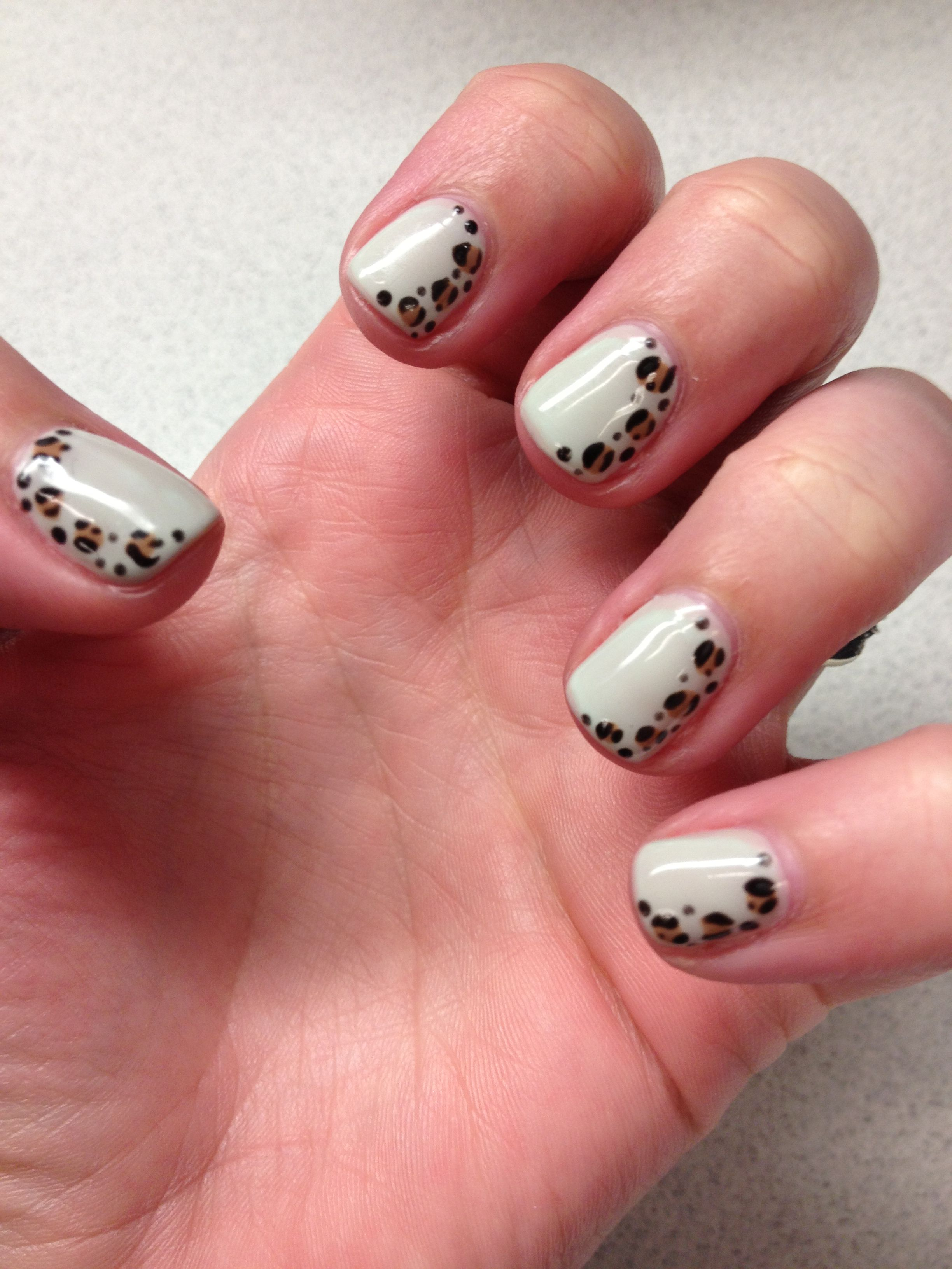 Mint leopard gel nails Makeup nails designs, Gel nails