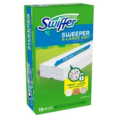 Swiffer Sweeper X Large Dry Multi Surface Sweeping Pad Refills For Dusters Floor Mop 19ct With Images Swiffer Surface Refill