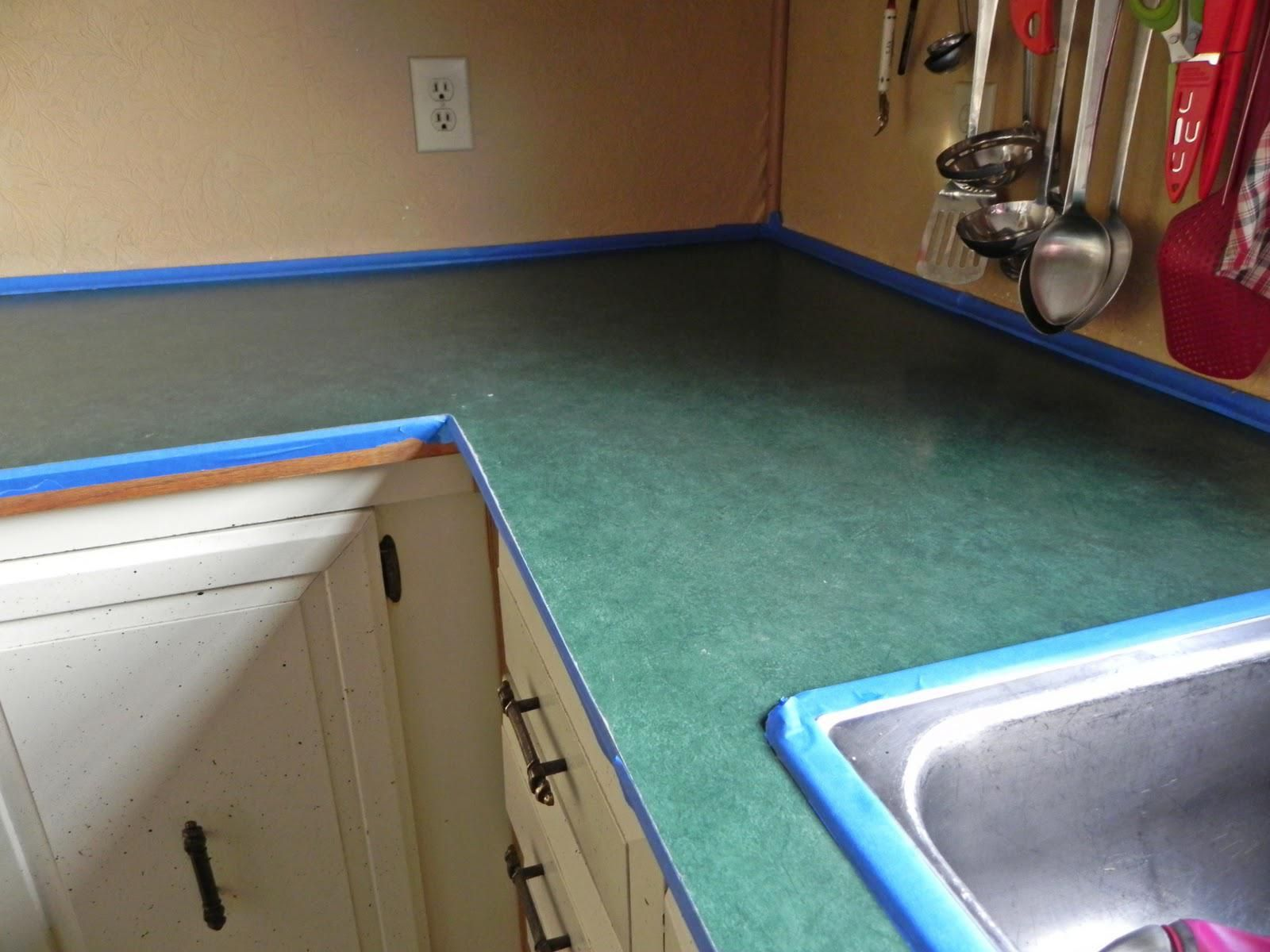 How To A Concrete Countertop Paint In 2020 Painting Countertops