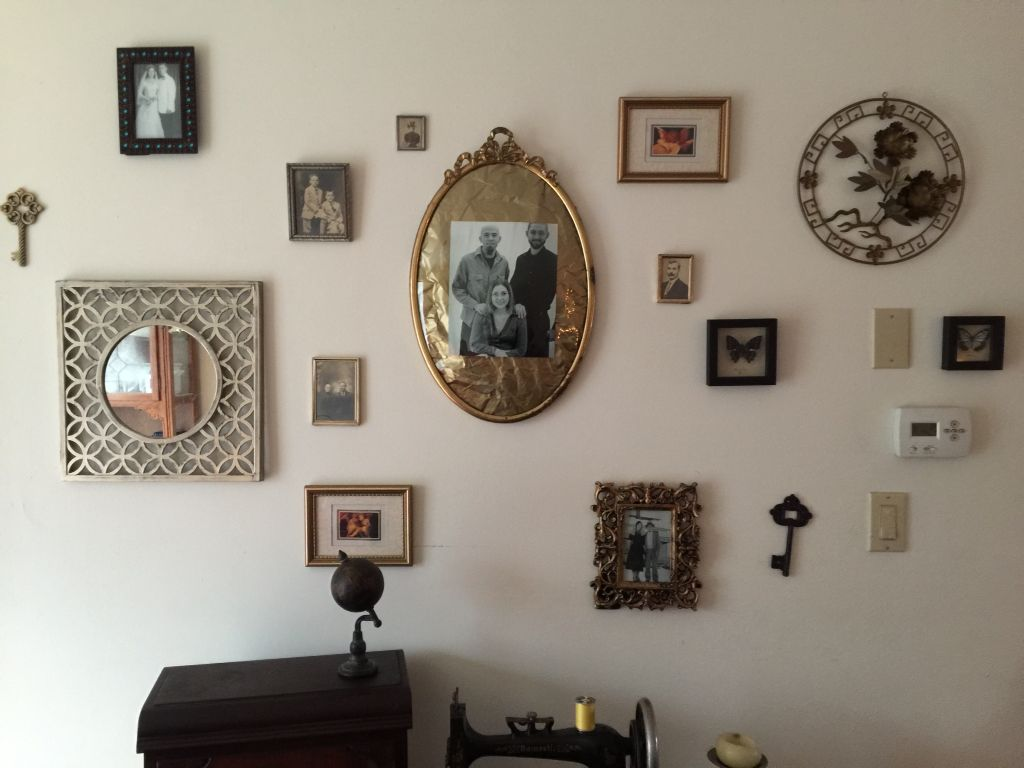 The picture in middle still needs work ... But here's my new old wall