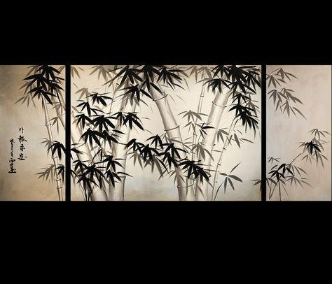 Lovely Giclee Artwork Canvas Art Fine Art Prints Wall Art Japanese Bamboo Art