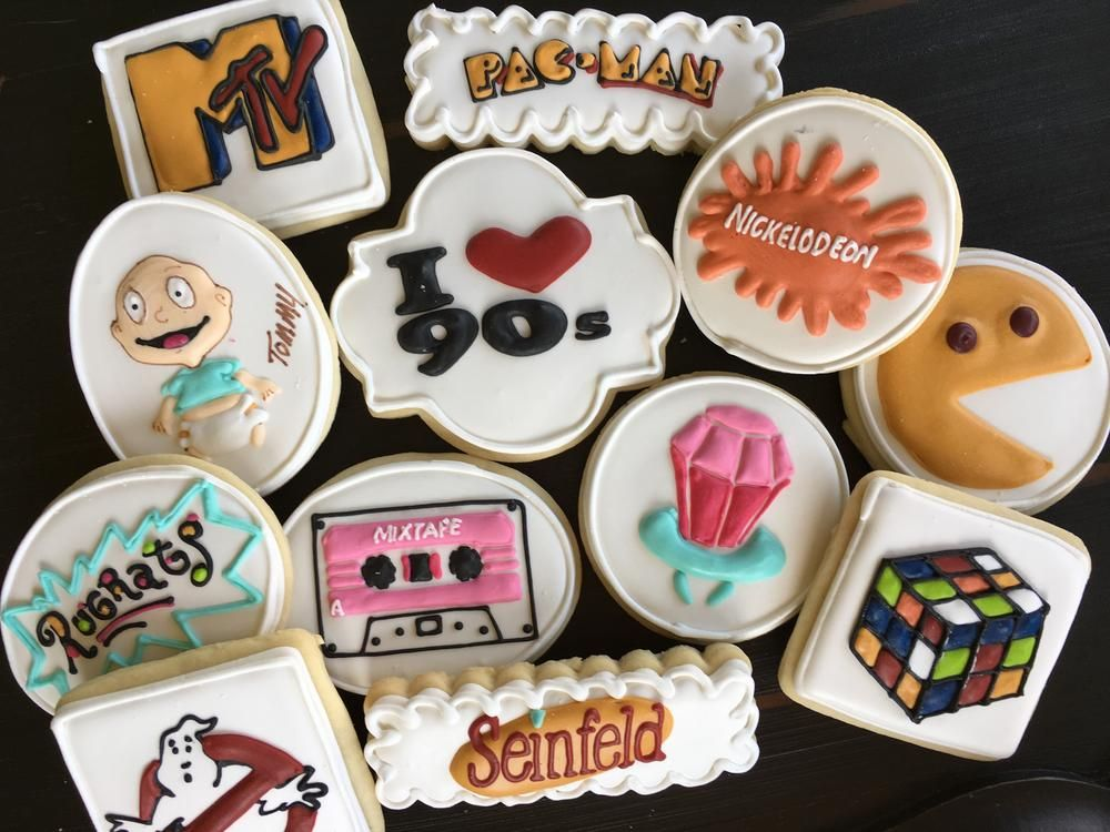 The 90's | Cookie Inspiration in 2019 | 90s theme party