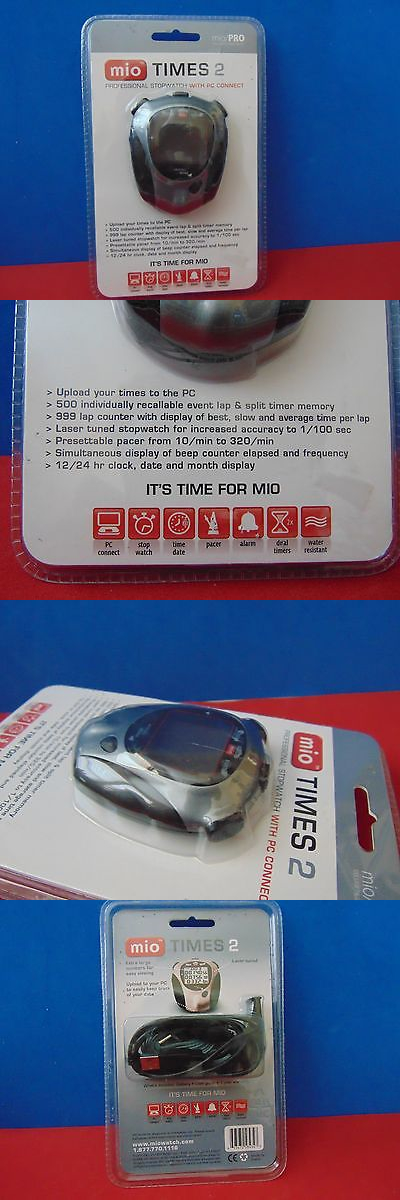 Stopwatches 166149: Mio Times 2 Professional Stopwatch With Pc Connect New Sealed -> BUY IT NOW ONLY: $32 on eBay!