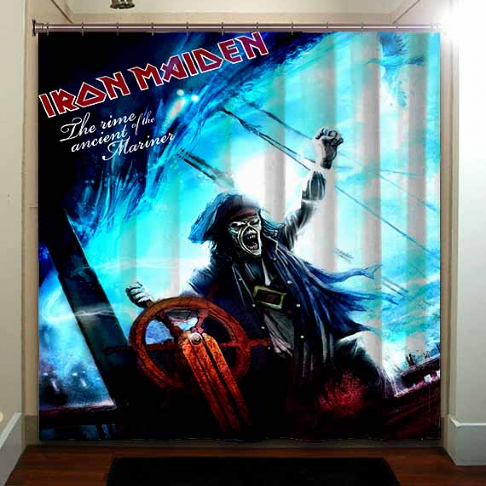 The Rime Of The Ancient Mariner Iron Maiden Shower Curtain