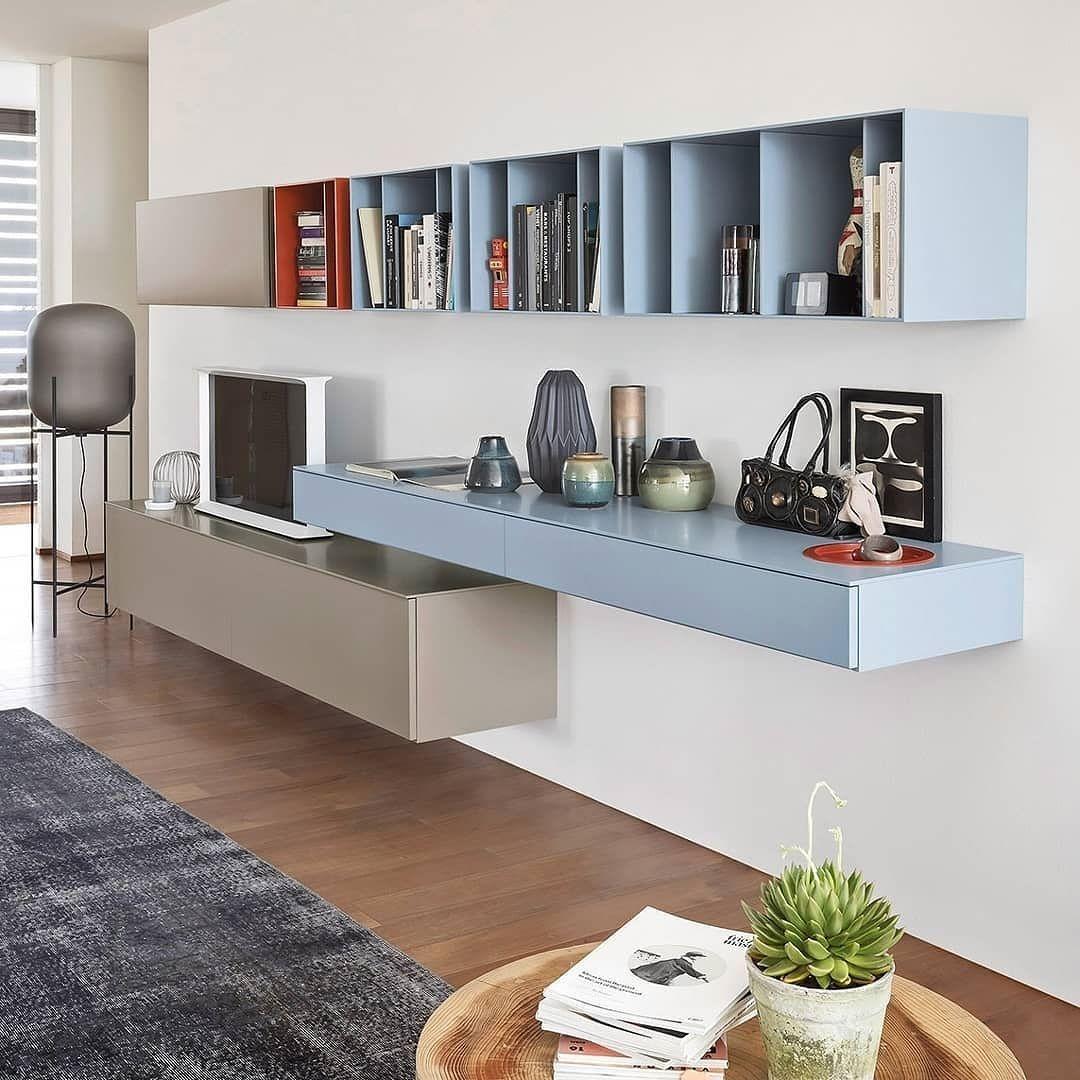 Anspruchsvoll Schöne Wohnwände Dekoration Von Die Geradlinige Moderne Wohnwand Von Novamobili Wird