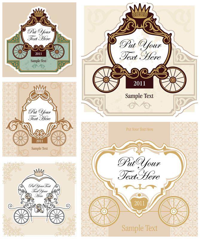 Vintage Wedding Invitation Cards Vector Wedding Invitation Card Template Classic Wedding Invitations Wedding Invitation Cards