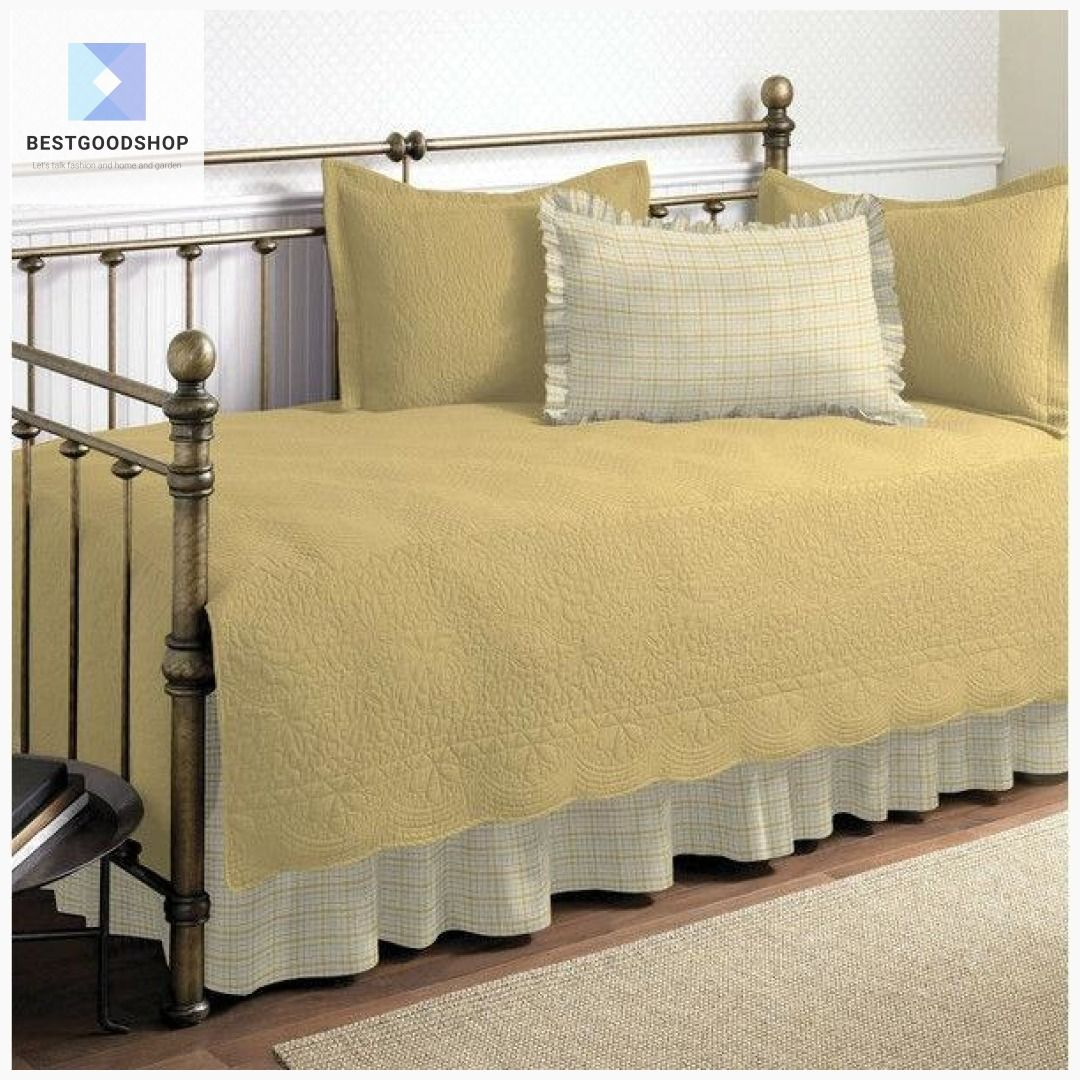 Twin size 100Percent Cotton 5Piece Quilt Set for Daybeds