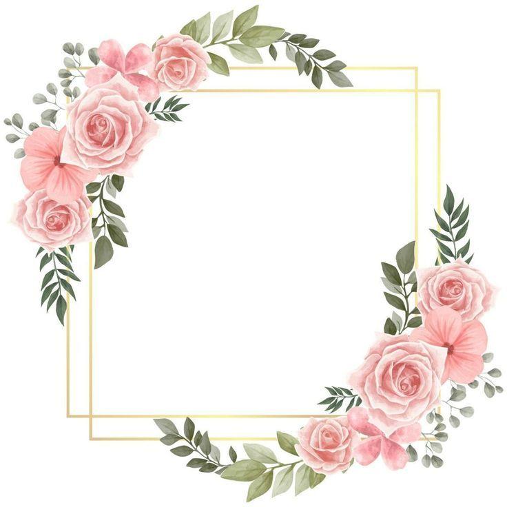 486c8273 Creative Invitation Label Templates Flower Frame Calendars Tattoo Ideas Molduras Para Convites De Casamento Borda Para Convite Quadro De Flores