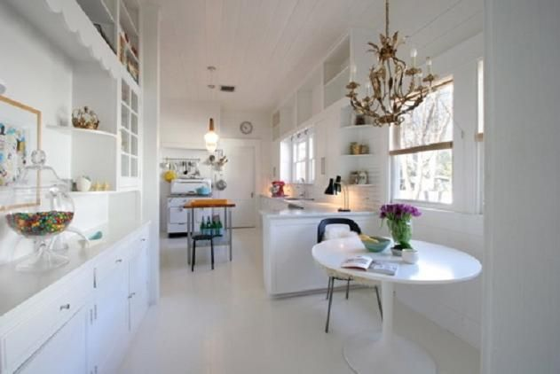 All White Kitchen Design
