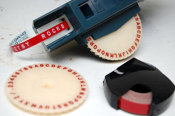 vintage blue dymo m 6 label maker with tape extra font cartridge