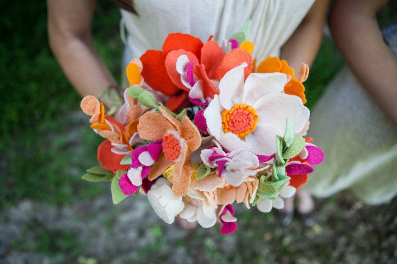Wedding Wildflower Felt Bouquet