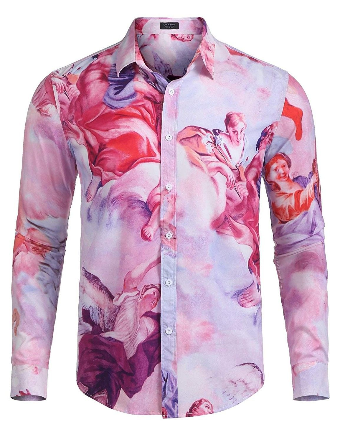 URBAN REVIVAL Men/'s Floral Printed Polo Shirt Cotton Rich Smart Casual Top New