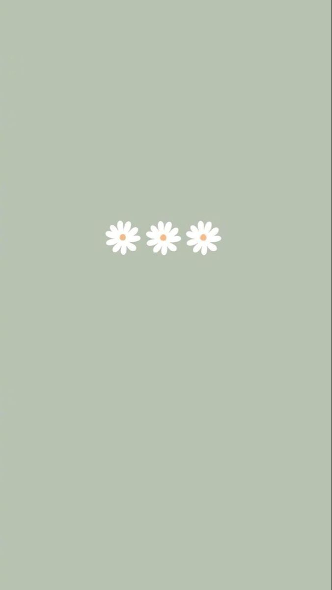 Pin By Day On Simply Aesthetic Wallpapers Iphone Wallpaper Green Daisy Wallpaper Simple Iphone Wallpaper