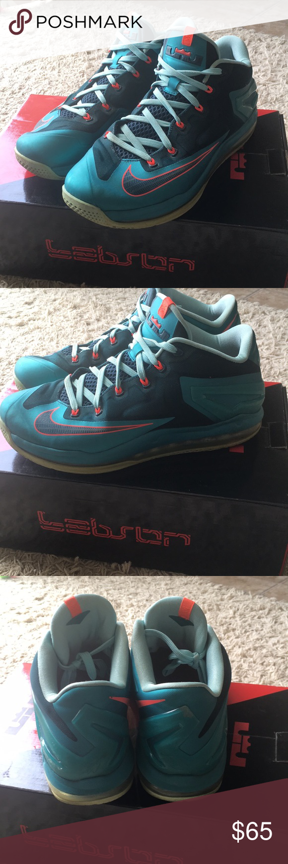 outlet store 996d9 f33de Nike Lebron In great shape. Lebron 12 South Beach Low style ...