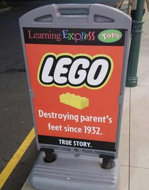 Lego,  destroying parent's feet since 1932