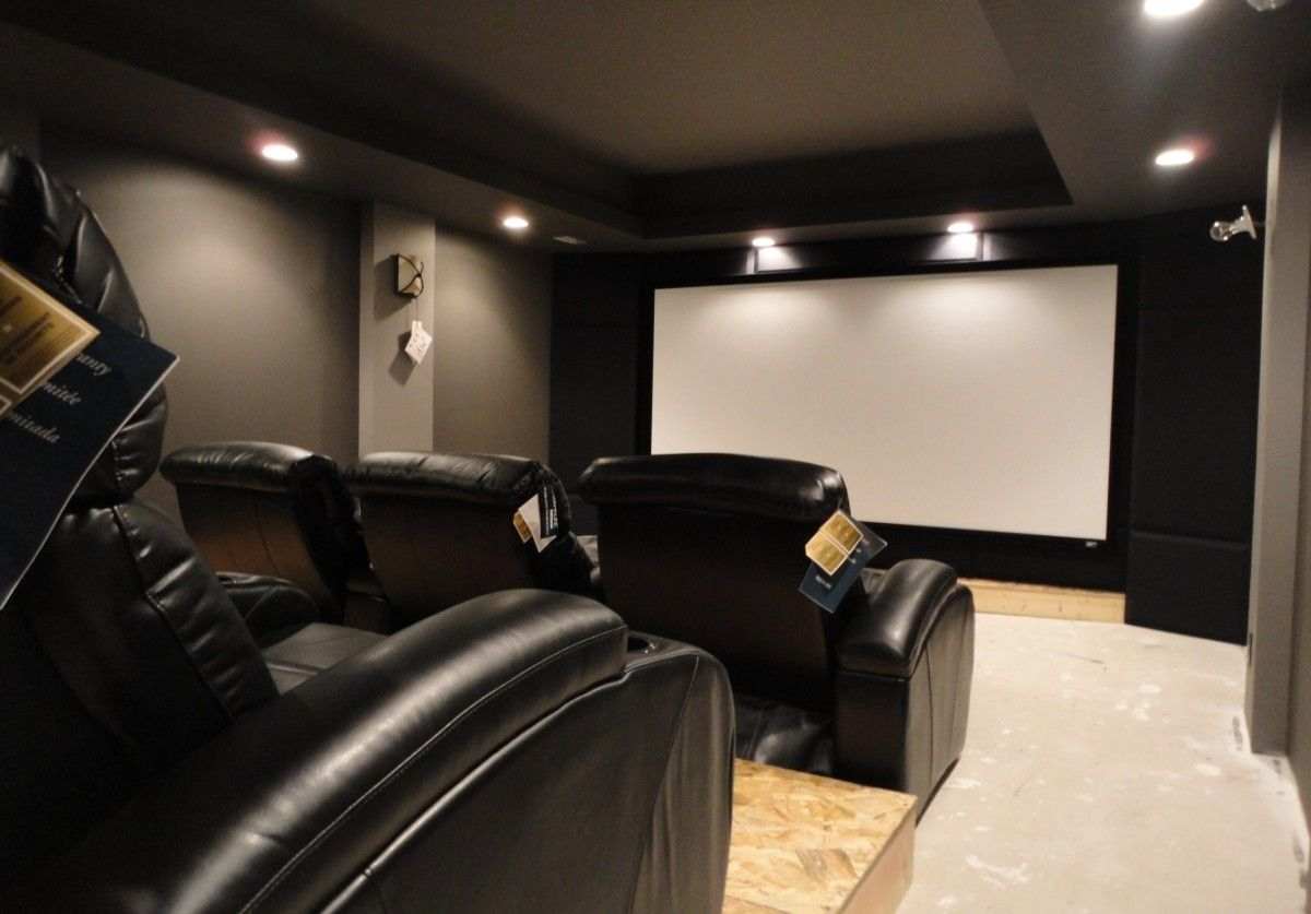 Basement theater idea realistic space and cost for Basement theater room