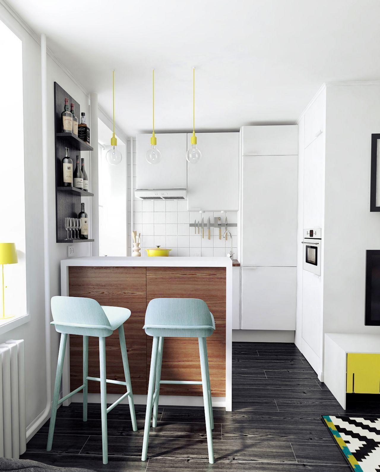 35 Outstanding Small Kitchen Studio Designs For Comfort Dexorate Kitchen Remodel Small Kitchen Design Small Interior Design Kitchen