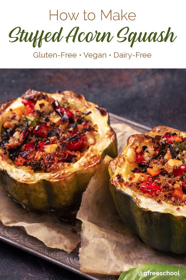 Stuffed Acorn Squash With Spanish Quinoa