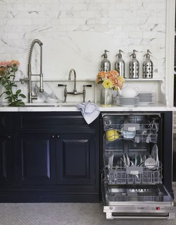 Windsor Smiths Kitchen With Marble Subway Tile
