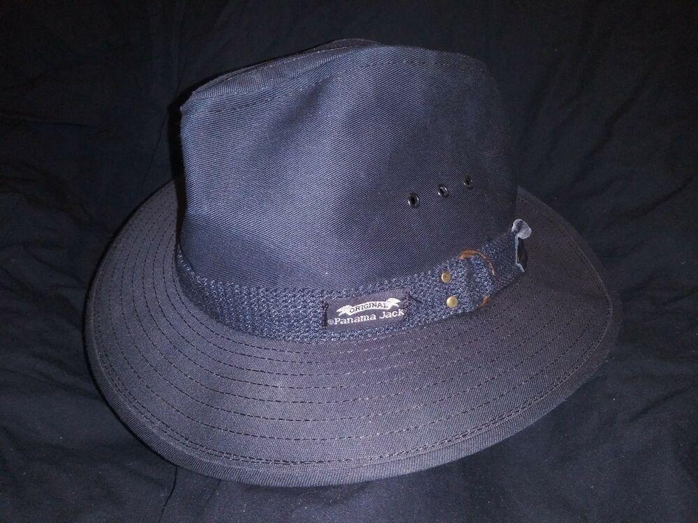 5c47ab90 MENS HAT PANAMA JACK ORIGINAL BLACK COTTON CANVAS SAFARI SZ SMALL #fashion  #clothing #shoes #accessories #mensaccessories #hats (ebay link)