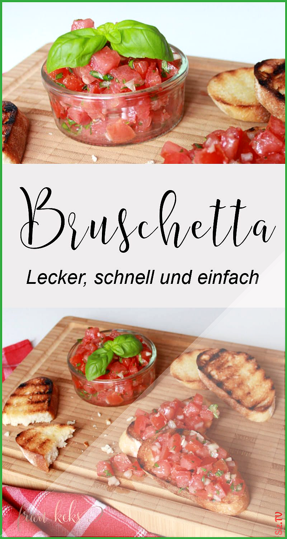 Bruschetta geht immer Egal ob zum Grillen als leichtes Sommergericht oder einfach nur zum Abendessen...
