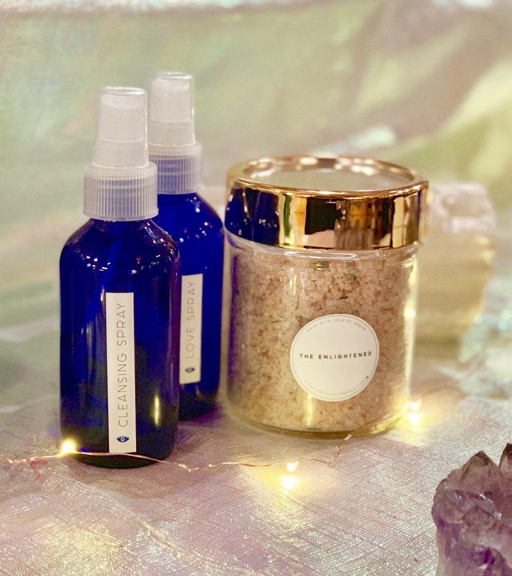 Bundle pack salt scrub love and cleanse sprays salt