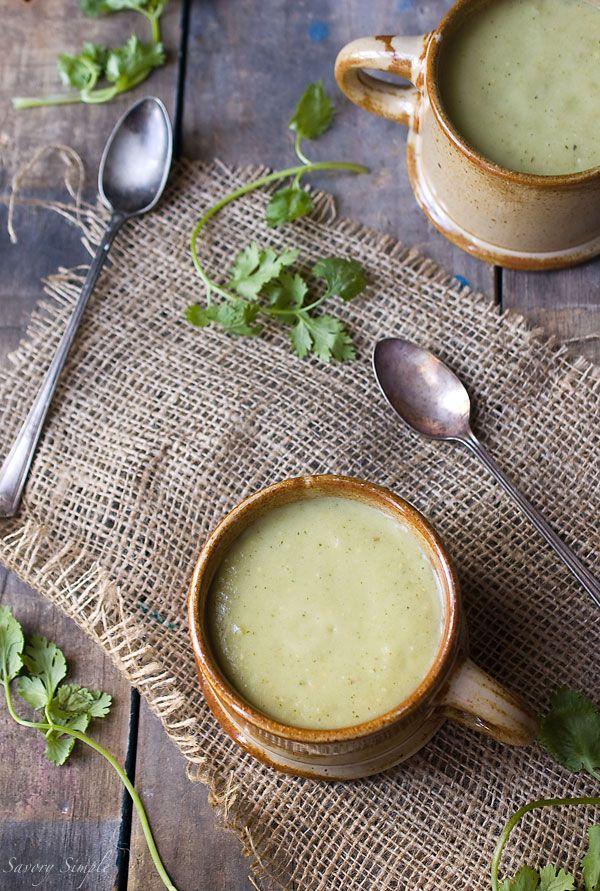Chilled Tomatillo Avocado Soup Recipe Savory Simple Recipe Avocado Soup Recipes Avocado Soup Spring Soup Recipes