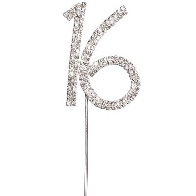 Diamante 16 Cake Topper 16th birthday party ideas Pinterest 16