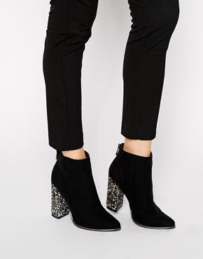 Darling black booties with a little sparkle twist | // fab fashion ...