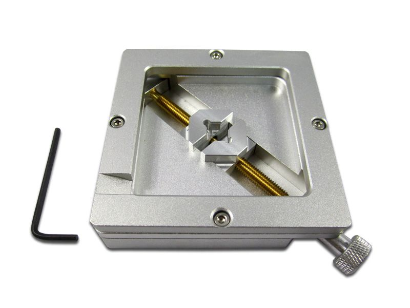 Silver Accurate Aluminum 90mm BGA Reballing Station Foxture Jig For PCB Chip