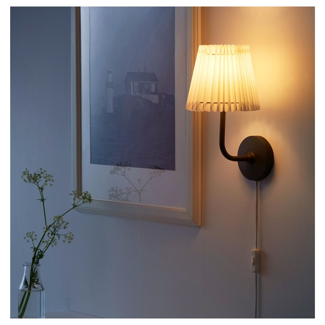 ÄNGLAND Wall lamp with LED bulb IKEA | Wall lamp, Led bulb