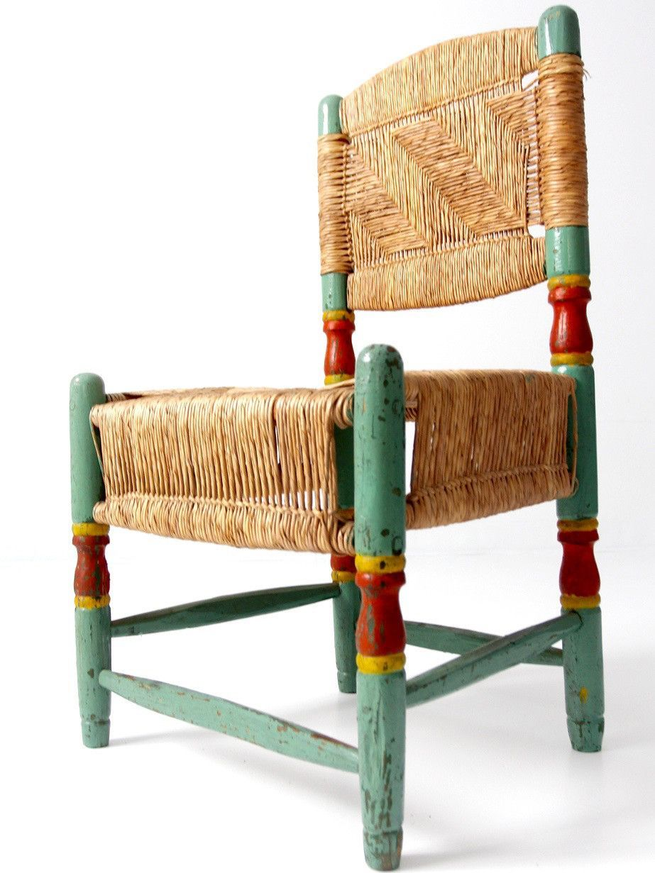 Antique Rush Seat Hacienda Chair Products # Muebles Fischel