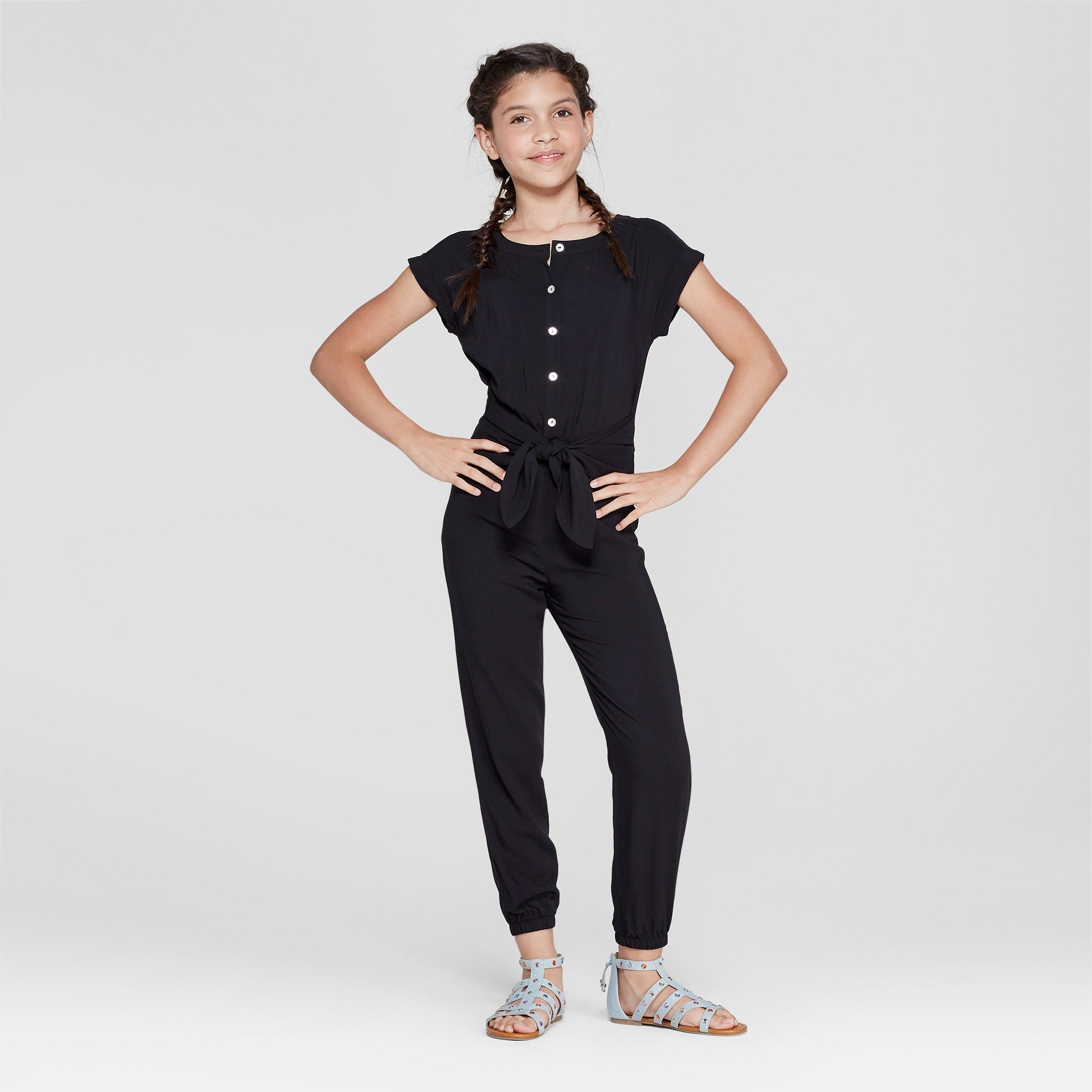 Girls jumpsuit art class black xs jumpsuits for girls