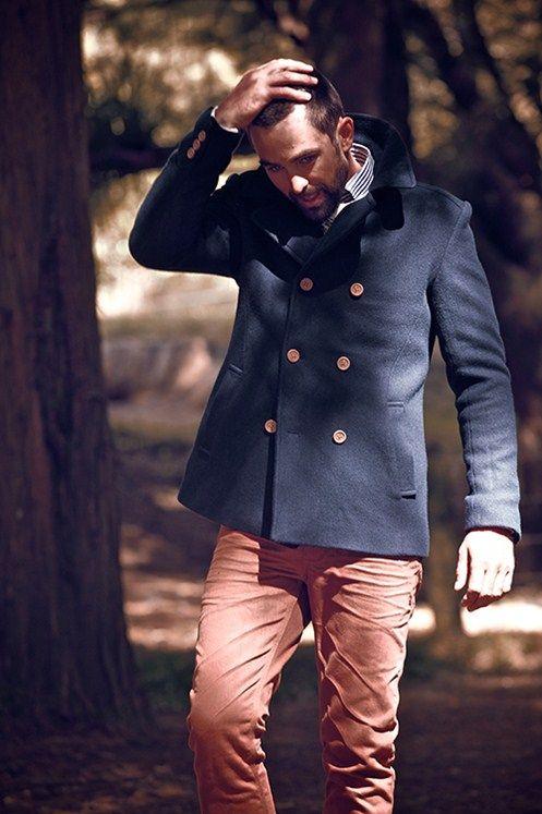 #barkers #menswear #wool # coat #denim