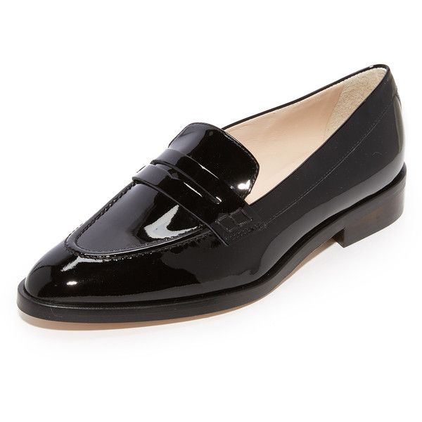 12341e8f26a L.K. Bennett Iona Penny Loafers ( 295) ❤ liked on Polyvore featuring shoes
