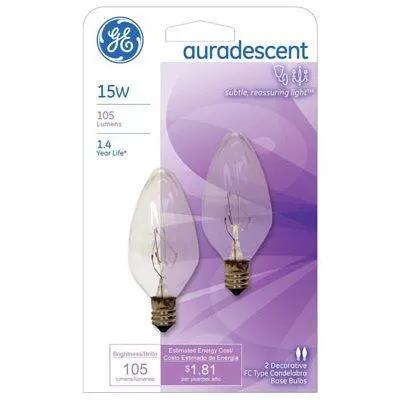 2 Pk 15 Watt Auradescent Torpedo Flame Light Bulbs True Value