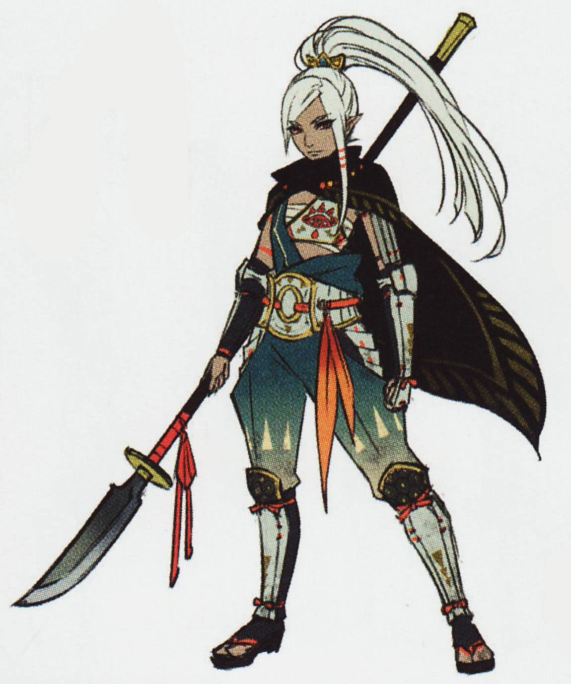 Character Design History : Impa s set of traditional art from the hyrule history