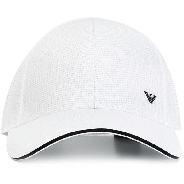 50ba71dccda Emporio Armani logo print cap ( 75) ❤ liked on Polyvore featuring men s  fashion