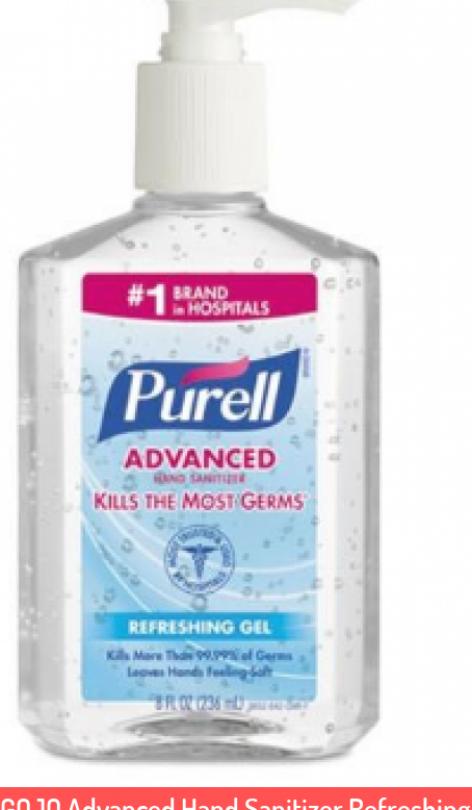 Gojo Advanced Hand Sanitizer Refreshing Gel Clean Scent 8 Oz Pump Bottle Advanced Bottle Clean Diy Purell Sanitizer Hand Sanitizer Sanitizer Wipes Diy