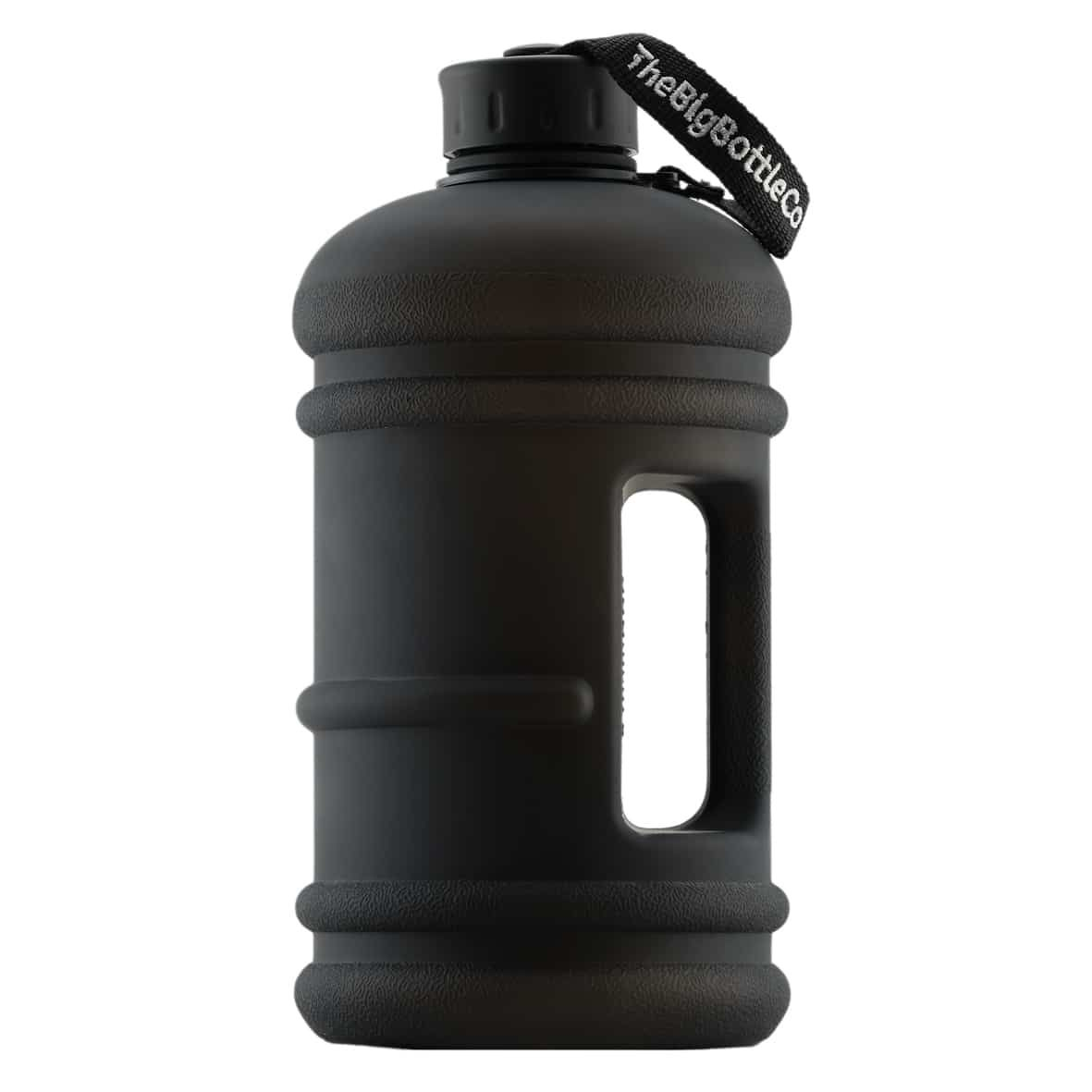 Big Bottle Elite Jet Black 2 2 Litre Reusable Water Bottle The Big Bottle Co Black Water Bottles Bottle 2l Water Bottle
