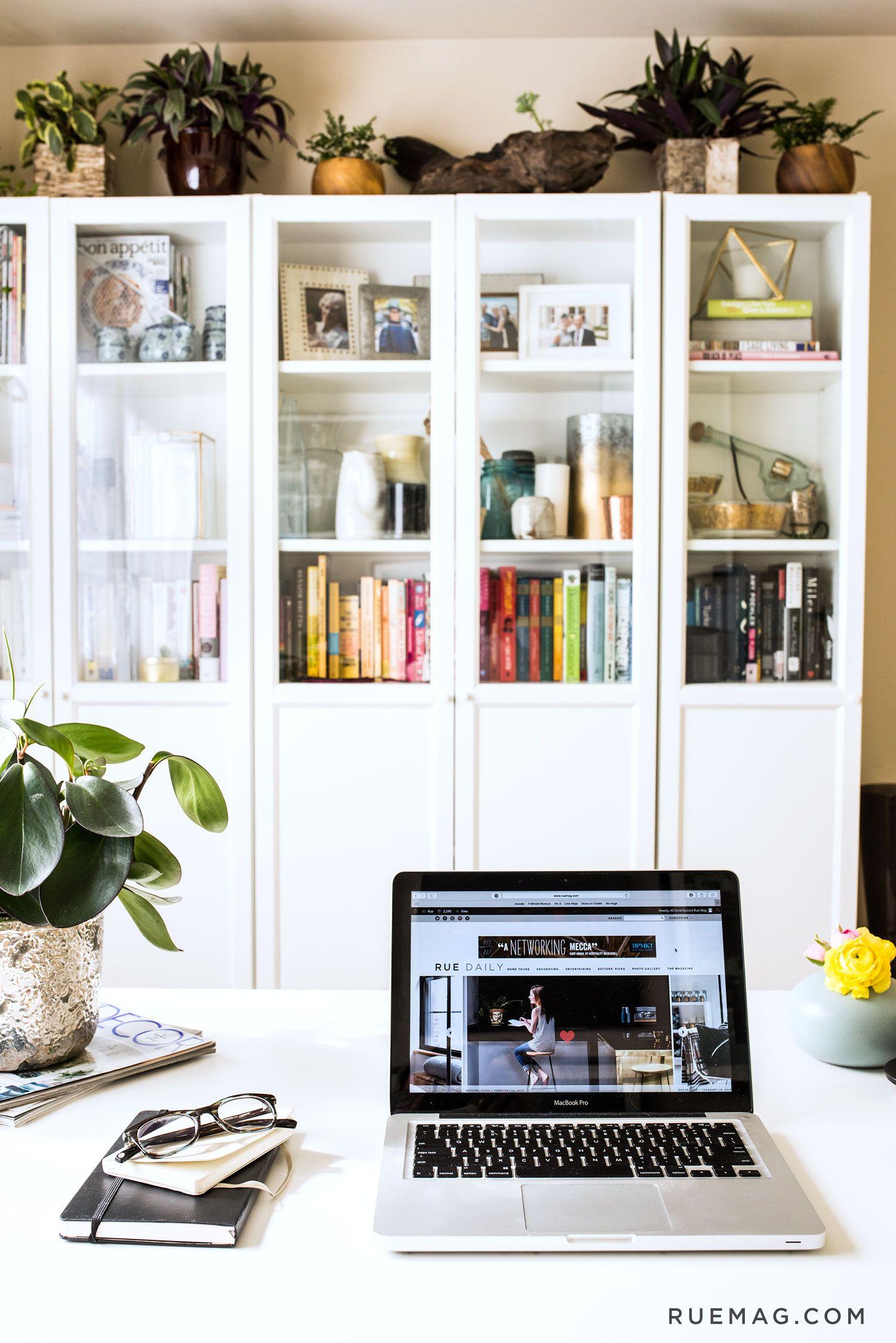 Kat Mceacherns Home Office In A Rental - Rue