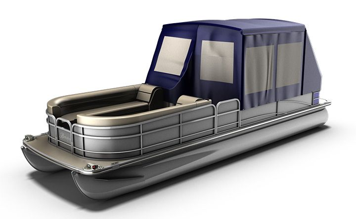 Pontoon Boat Enclosures >> Turn Your Pontoon Into A Camping Tent Rocky Mountain Rv