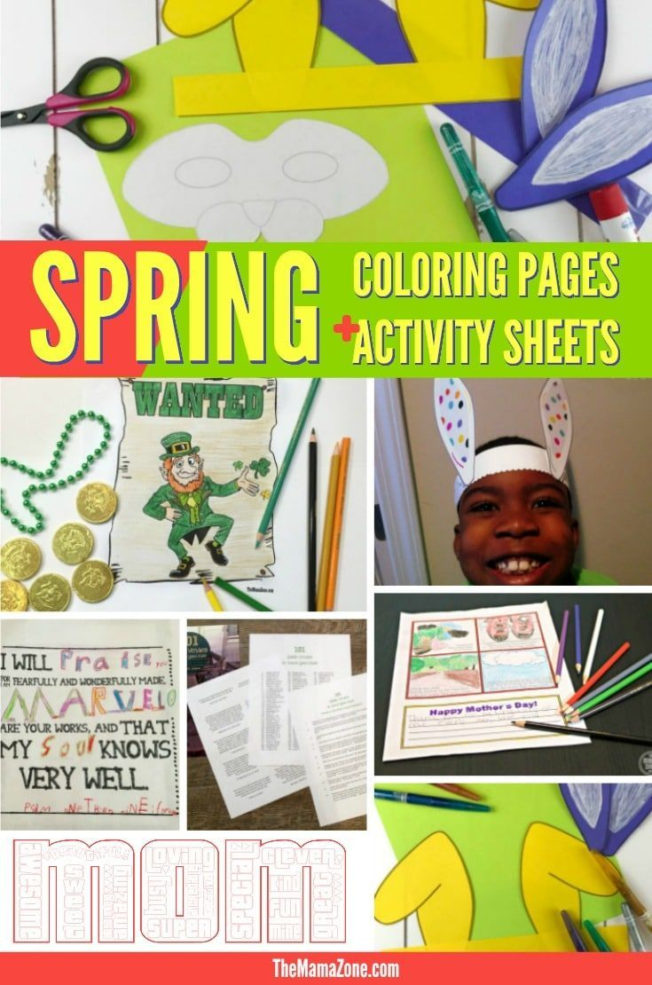 Printable Spring Activities for Your Kids