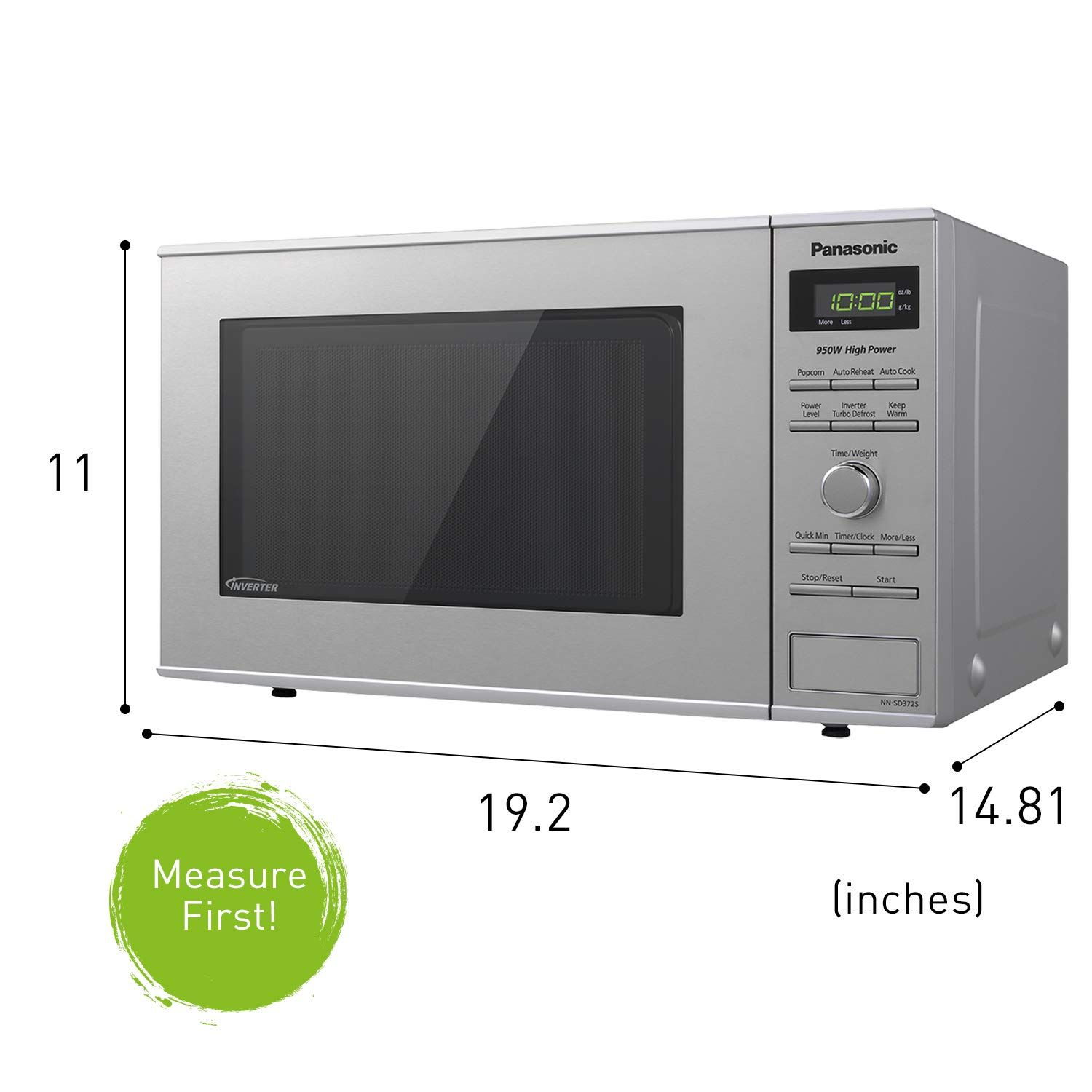 Amazon Com Panasonic Microwave Oven Nn Sd372s Stainless Steel Countertop Built In With Inverter Technology With Images Panasonic Microwave Countertop Microwave Microwave